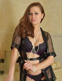 Gorgeous housewife wears her..