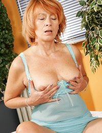 Trashy granny with large..